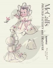 "Reproduction Vintage Baby Doll's Clothes Sewing Pattern McCall's 20"" Doll"