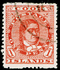 COOK ISLANDS  SG38, 1d deep red, FINE USED, CDS. Cat £30. WMK UPRIGHT.
