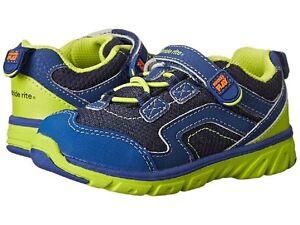 NIB STRIDE RITE Athletic Shoes M2P Made 2 Play Baby Jake Blue Green 4 M 4W 5.5 M