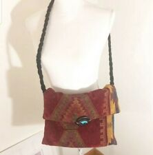 Vintage navajo  shoulder bag with TURQUOISE buffalo button