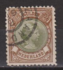 NVPH Netherlands Nederland 46 used Wilhelmina hangend haar 1893-1896