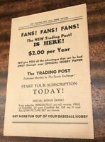 RARE 1950s BASEBALL NATIONAL HALL OF FAME COOPERSTOWN PHOTO ORDER BOOK MLB HOF