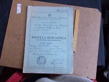 PAGELLA SCOLASTICA SCUOLA ELEMENTARE ANNO SCOLASTICO  1964/1965