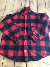 Vintage Melton Virgin Wool Shirt Jacket Xl Deer Hunting Camp Made in Usa
