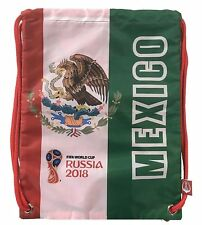 Mexico 2018 FIFA World Cup Russia Official Gymsack Draw string Soccer Backpack