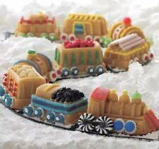 xmas cake mold pan cupcakes train kids 9 cars aluminium made USA 5 cups birthday