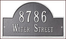 Whitehall Classic Arch Large Estate-Size Address Marker Personalized Plaque Sign
