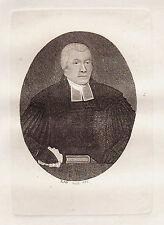 JOHN KAY Original Antique Etching. Rev. Dr. John Colquhoun, Of the..., 1793