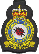 Battle of Britain Memorial Flight Royal Air Force Mod Crest Embroidered Patch