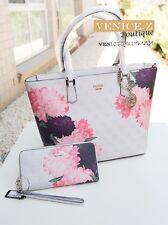 BNWT $284 GUESS LINNEA Handbag Shoulder Bag Satchel Purse Clutch Wallet Cement