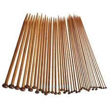 2Pcs Point Carbonized Circular Bamboo Knitting Needles 40cm-120cm Useful