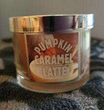 Bath & Body Works Pumpkin Caramel Latte Scented 1.6 oz Mini Candle New