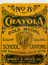 Crayola Crayons No 8 School Collectable Tin Box Educational Color Work Kids