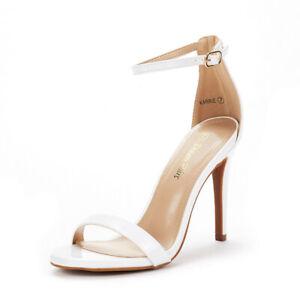 DREAM PAIRS Women's Stilettos High Heel Sandals Ankle Strap Wedding Party Shoes