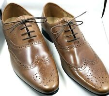 ASOS Design Men's Brown Leather Shoes Brogues Oxfords Size 12US 11UK In Box