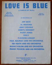 Jeff Beck – Love Is Blue by Pierre Cour, Bryan Blackburn & Andre Popp – Pub.1966