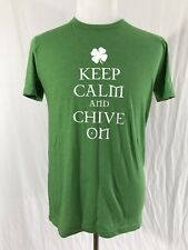 KCCO - Keep Calm and Chive On - Chive Tees - Green 60/40 Shirt - Men's Large