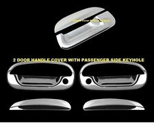 For FORD F150 1997-2003 Chrome Covers Set 2 Doors WITH Keyhole +Tailgate WITHOUT