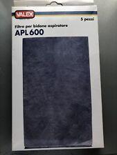 FILTRO BIDONE ASPIRATORE APL600 5P VALEX 5 PER CONFEZIONE COD.1350040