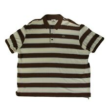 Lacoste men's brown and white size 9 XXL Polo RN 87651