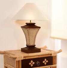 DESIGN LAMPE SHANGHAI RATTAN BEISTELLLAMPE LEUCHTE NACHTTISCH BAMBUSLAMPE TISCH