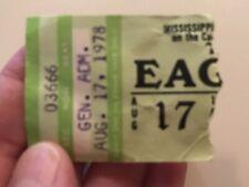 New listing Eagles 1978 Concert Ticket Stub