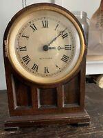 Vintage SETH THOMAS Electric Mantle Clock, Paneled Mahogany Case