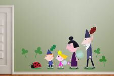 Ben & Holly Wall Sticker / Vinyl Picture LARGE 120cm long