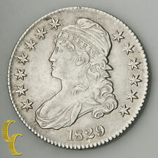 1829 Capped Bust Silver Half Dollar 50c (AU) About Uncirculated Condition