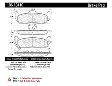 Disc Brake Pad Set fits 2004-2018 Nissan Armada Titan Pathfinder Armada  CENTRIC
