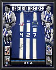 Brent Harvey Signed Kangaroos 427 Game Record AFL Jumper Framed North Melbourne