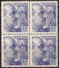 EDIFIL Nº 1052**  45c. azul  Bloque de 4  Nuevos   ( 1,20 € )