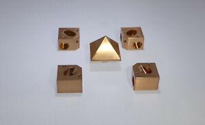 Rohr Pyramide Verbinderset Voll-Kupfer ! 16mm ,  Copper Cheops energy pyramid