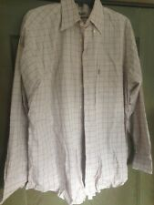 Barbour Tan Tattersall  Button Down Dress Shirt Large