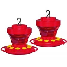First Nature 3091 16 Ounce Hummingbird Nectar Flower Feeder-Easy Cleaning-2 Pack