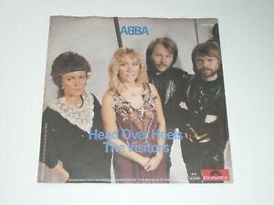 """ABBA Schallplatte Vinyl Single 7"""" Head Over Heels / The Visitors"""