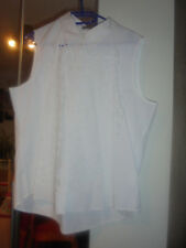 Bluse weiß ärmellos Gr. 46