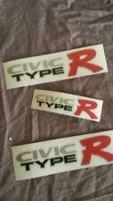 honda civic ek9 ek TYPE R side and hatch sticker set FOR BLACK CARS