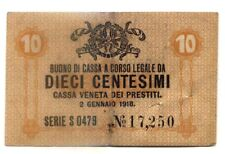 ITALIE . VENISE . BILLET . 10 CENTESIMI . 1918 .