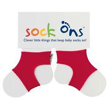 Sock Ons Sockenhalter Babysocken Small 0-6m red
