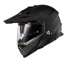 LS2 Blaze Solid Dual Sport Helmet Matte Black