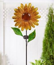 """42"""" Sunflower Design Solar Lighted Garden Stake Single Pronged NEW"""