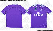 Real Madrid 16/17 Away Model adidas Youth SS Jersey(XS)Ray Purple AI5163 Pepe