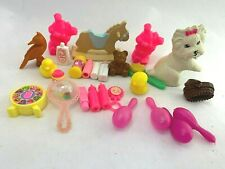 Vtg BARBIE BABY NURSERY Babies KRISSY and Pet Accessories LOT