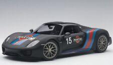 Porsche 918 Spyder Black Martini 1 18 Model 77929 Autoart