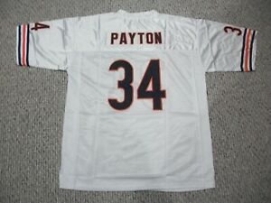 WALTER PAYTON Unsigned Custom Chicago White Sewn New Football Jersey Sizes S-3XL