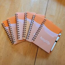 Lot Of 6 Motivational Small Spiral Notebook With Pen Amp Stylus With Pockets 7 X 5