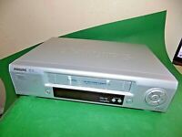 PHILIPS VR220 VCR VHS VIDEO CASSETTE RECORDER Vintage Silver FAULTY SPARES
