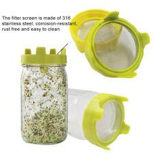 Mason jar Sprouter Garden Supplies Sprouting Lid Germination Filter US