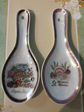 2 Decorative Ceramic Kitchen StoveTop Spoon Rest from Cayman Islands & St Martin